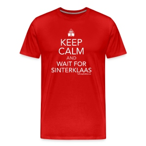 Keep Calm - Sinterklaas (white) - Men's Premium T-Shirt