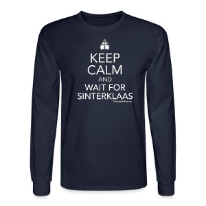 Keep Calm - Sinterklaas (white) - Men's Long Sleeve T-Shirt