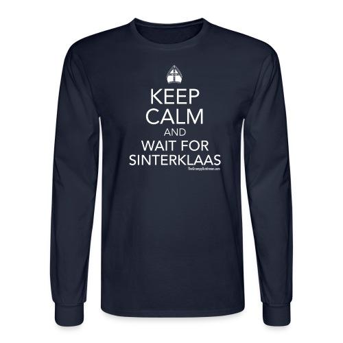 Keep Calm - Sinterklaas (white) - Men's Long Sleeve T-Shirt