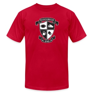 A Wisconsin Crest - Men's Fine Jersey T-Shirt