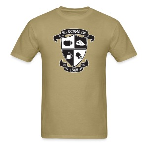 A Wisconsin Crest - Men's T-Shirt