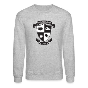 A Wisconsin Crest - Crewneck Sweatshirt