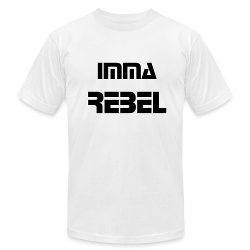 Men's Imma Rebel Shirt WHITE - Men's Fine Jersey T-Shirt