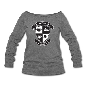 A Wisconsin Crest - Women's Wideneck Sweatshirt