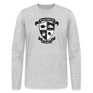 A Wisconsin Crest - Men's Long Sleeve T-Shirt by Next Level