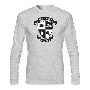 A Wisconsin Crest - Men's Long Sleeve T-Shirt by Next Level