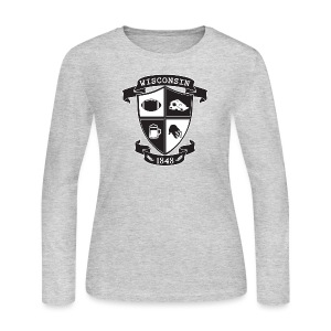 A Wisconsin Crest - Women's Long Sleeve Jersey T-Shirt