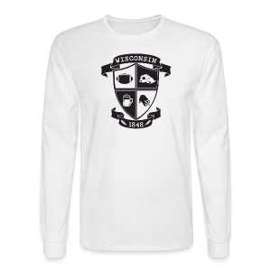 A Wisconsin Crest - Men's Long Sleeve T-Shirt