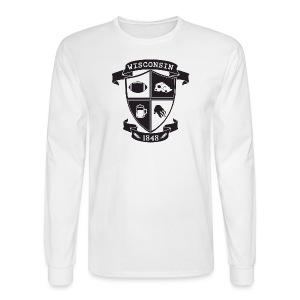 A Wisconsin Crest - Men's Long Sleeve T-Shirt