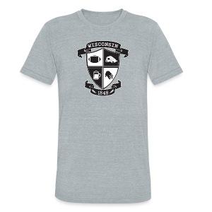 A Wisconsin Crest - Unisex Tri-Blend T-Shirt