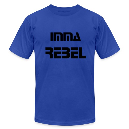Men's Imma Rebel Shirt BLUE - Men's Fine Jersey T-Shirt