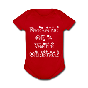 Dreaming of a White Christmas - Short Sleeve Baby Bodysuit