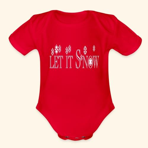 Let it Snow - Organic Short Sleeve Baby Bodysuit