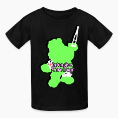 Intensive Care Bear Green Kids' Shirts