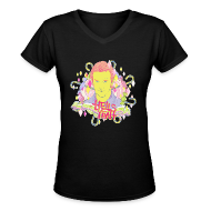 T-Shirts ~ Women's V-Neck T-Shirt ~ Hells Yeah