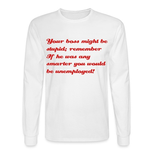 WHITE LONG SLEEVE - Men's Long Sleeve T-Shirt