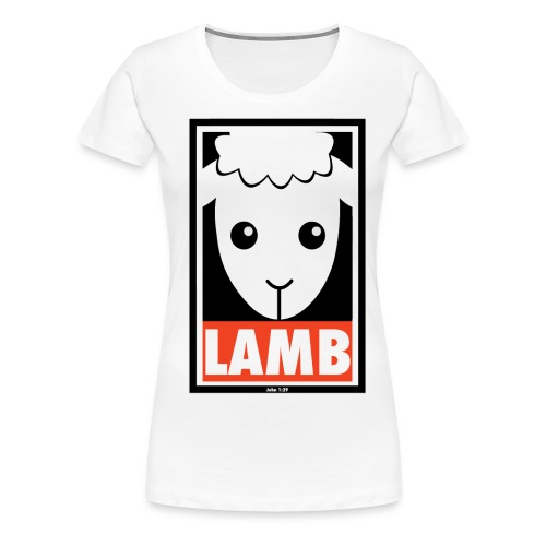 LADIES - Lamb - Women's Premium T-Shirt
