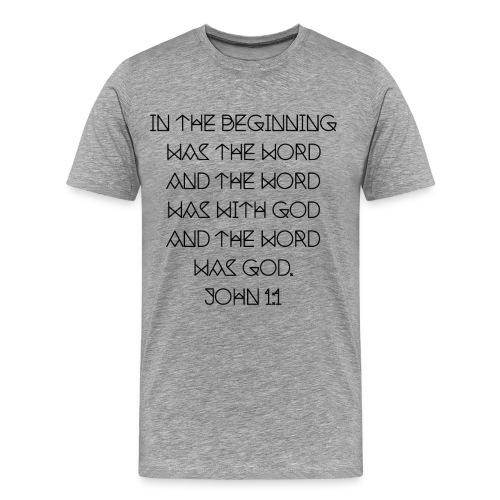 John 1:1 - Men's Premium T-Shirt