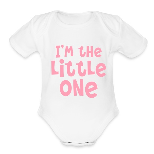 The Little One (girl) - Organic Short Sleeve Baby Bodysuit