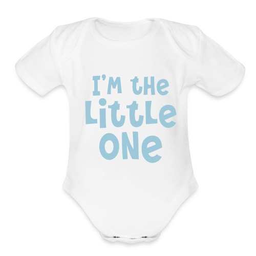 The Little One (boy) - Organic Short Sleeve Baby Bodysuit