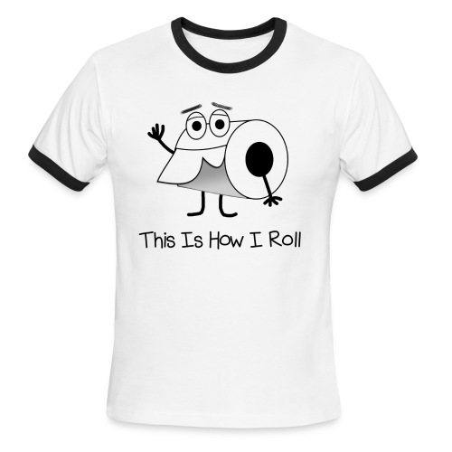 This is How I Roll Ringer T - Support Crohn's and Colitis Research - Men's Ringer T-Shirt