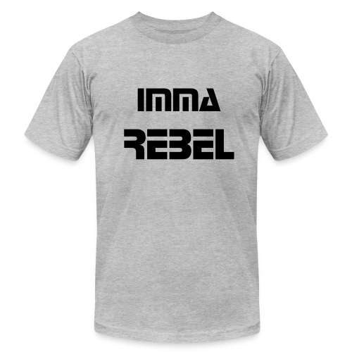 Men's Imma Rebel Shirt GRAY - Men's Fine Jersey T-Shirt