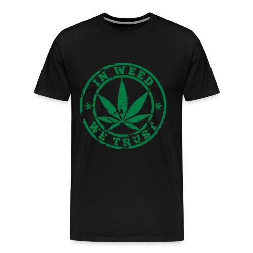 Zelvic in weed we trust T-shirt - Men's Premium T-Shirt