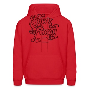 S&S RIDERS ARE FAMILY BLACK - Men's Hoodie