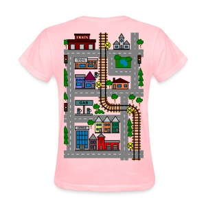 Mothers Day Playmat Tshirt!  Car and Train Play Mat for your kids! - Women's T-Shirt