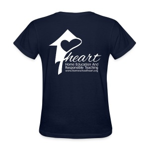 HEART Dark Blue Shirt - Women's T-Shirt