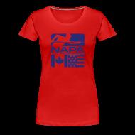 T-Shirts ~ Women's Premium T-Shirt ~ Blue Logo Women's Short Sleeve Premium T-Shirt