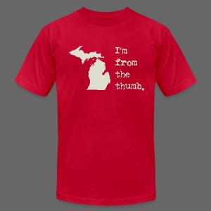 I'm From the Thumb - Men's T-Shirt by American Apparel