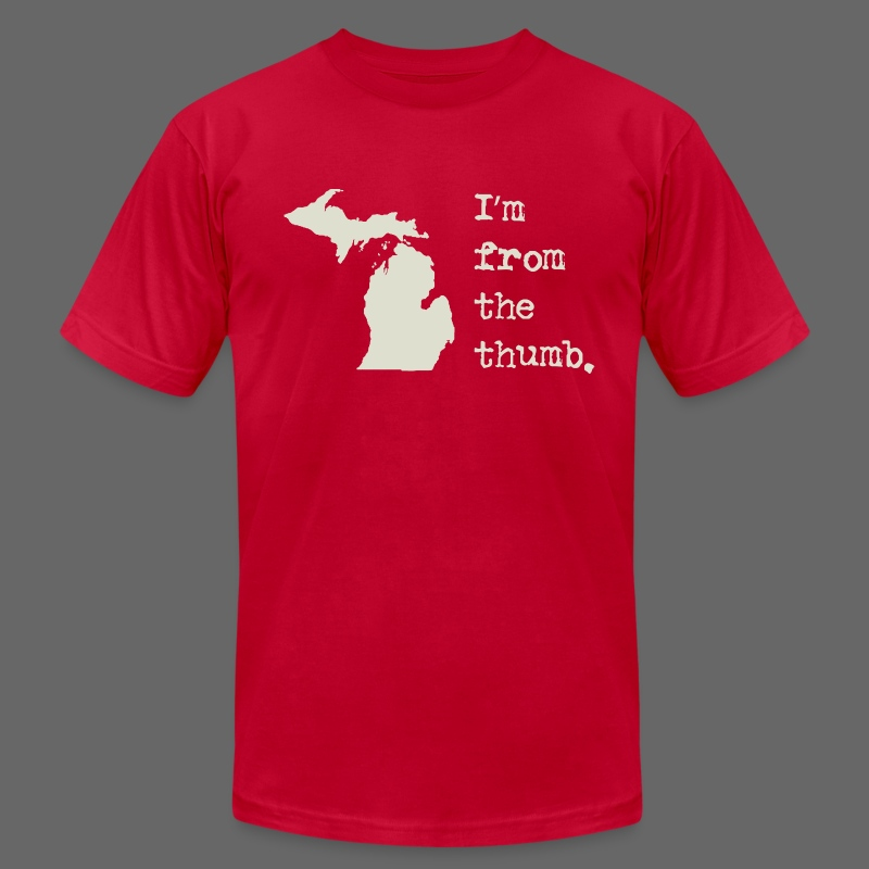 I'm From the Thumb - Men's Fine Jersey T-Shirt