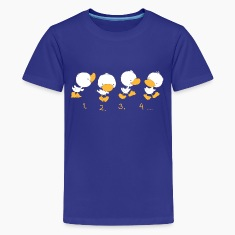 4 Ducklings with numbers Kids' Shirts