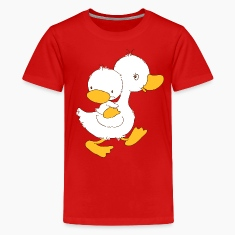 Duckling on mothers back Kids' Shirts