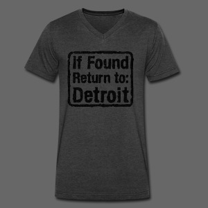 If Found Return to Detroit - Men's V-Neck T-Shirt by Canvas