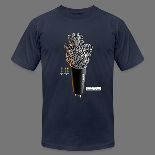 CRZN Dynamic Microphone - Men's T-Shirt by American Apparel