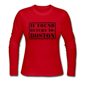 If Found Return to Boston - Women's Long Sleeve Jersey T-Shirt