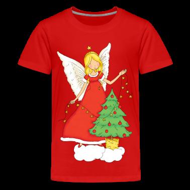 Christmas Angel with Christmas tree