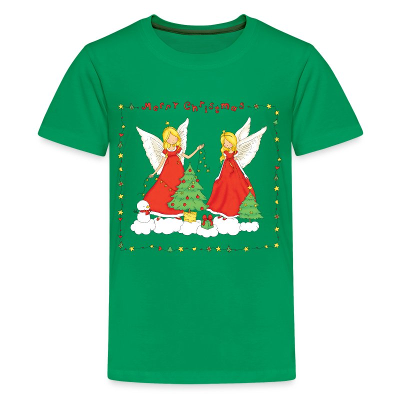 Christmas angels with tree merry christmas t shirt Merry christmas t shirt design