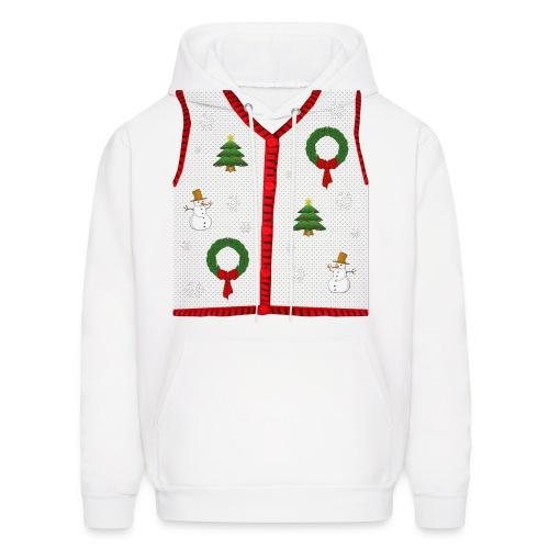 Ugly Christmas Vest Hoody - Men's Hoodie