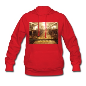 'Happiness is a warm barn' Women's Hooded - Women's Hoodie