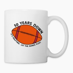50th Birthday Football Bottles & Mugs