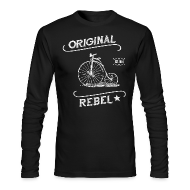 Long Sleeve Shirts ~ Men's Long Sleeve T-Shirt by Next Level ~ Original Rebel - Men's Dark Long Sleeve