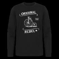 Long Sleeve Shirts ~ Men's Long Sleeve T-Shirt by Next Level ~ Original Rebel - Men's Dark Long Sleeve
