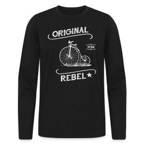 Original Rebel - Men's Dark Long Sleeve - Men's Long Sleeve T-Shirt by Next Level