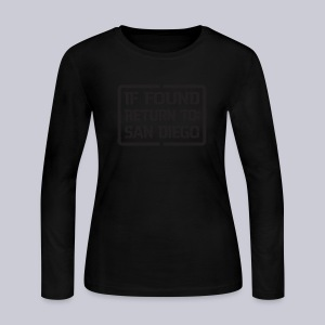 If Found Return To San Diego - Women's Long Sleeve Jersey T-Shirt