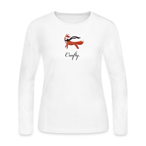 Crafty - Women's White Long Sleeve Jersey - Women's Long Sleeve Jersey T-Shirt