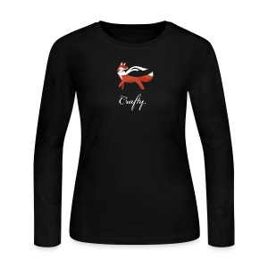 Crafty - Women's Black Long Sleeve Jersey - Women's Long Sleeve Jersey T-Shirt