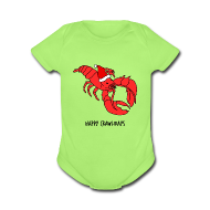Baby & Toddler Shirts ~ Baby Short Sleeve One Piece ~ Happy Crawlidays - (Baby's  )